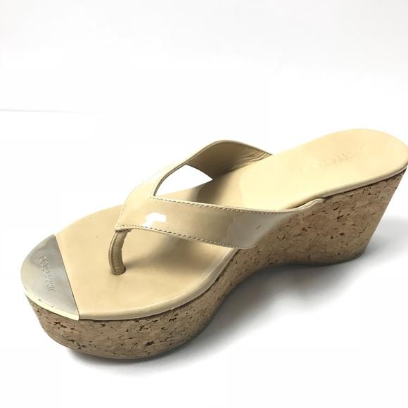 daaf072a3af6 Jimmy Choo Shoes - Jimmy choo cork wedge flip flop sandal nude 7.5
